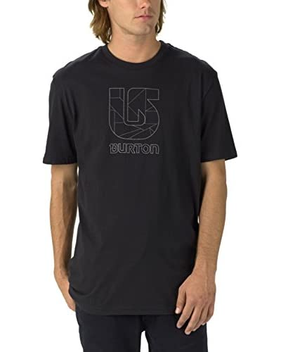 Burton Camiseta Manga Corta Logo Vtl Slim Negro