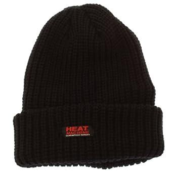 Heat Machine Mens Thermal Insulated Heavy Winter/Ski Hat 4.3 Tog (One Size) (Black)