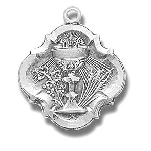 Sterling Silver Baroque 1st Communion with 18