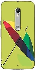 Snoogg Monsoon Umbrella 2467 Designer Protective Back Case Cover For Motorola Moto X Style