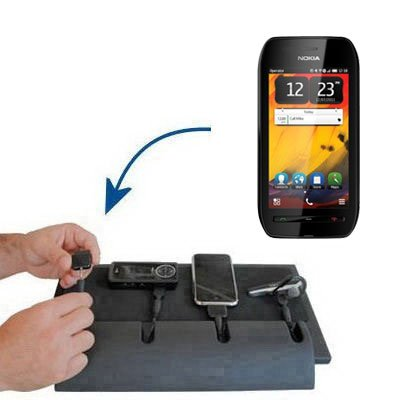 Gomadic Advanced Nokia 603 4-port Charging Station - Uses TipExchange Technology to charge up to four devices simultaneously