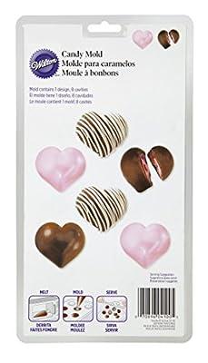 Wilton 2117-100 Candy Mold Heart Truffles, 8-Cavity