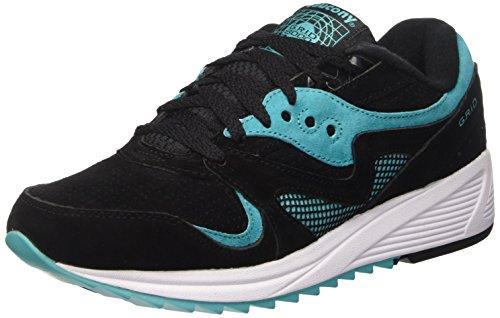 Saucony Grid 8000, Scarpe Low-Top Unisex Adulto, Nero, 42 1/2 EU