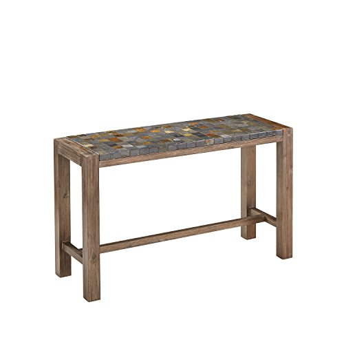 Home Styles 5601-22 Morocco Console Table, Slate and Wire Brushed Finish (Patio Console Table compare prices)