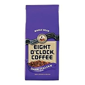 EIGHT O'CLOCK COFFEE Whole Bean Coffee, Dark Italian Roast, 34.5-Ounce