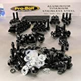Aluminium Full Monty Bolt Kit Suzuki GSXR750 K4-K5 Black
