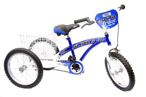 Pedal Pals Boy's Trike 100% Assembled Trike - Blue/White, 16 Inch