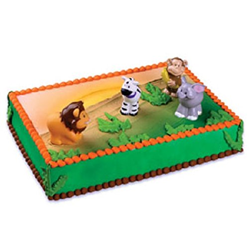 Zoo Animal Cake Topper Decorating Kit - 1 Set - 1