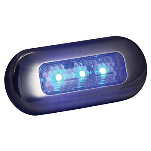 T-H Marine LED-51823-DP LED Oblong Courtesy Lights - Blue (Blue Led Boat Lights compare prices)