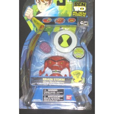 Picture of Bandai Ben 10 (Ten) 4 Inch Deluxe Alien Collectible Series 3 Action Figure Brainstorm (B001NY37L6) (Ben 10 Action Figures)