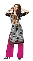 AMP IMPEX Ethnicwear Women's Kurti Fabric BLACK_Free Size