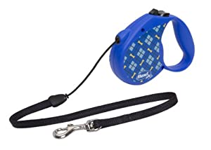 Flexi 16-Feet Retractable Lead with Lupine Pattern Dapper Dog for Pets Up to 26-Pound