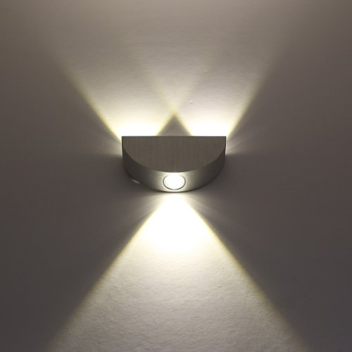 Anse High Power 2W 3W 4W Modern Led Wall Sconces Corner Light Fixture Hall Room Decorative Indoor Porch Lobby Patio Fixture Light Bulb Modern Decor Lamp Decking For Cafe Coffee Shop Store Restaurant Hotel Motel (Warm White, 3W- Semicircle)