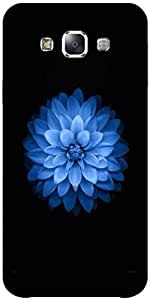 Snoogg Blue Lotus Solid Snap On - Back Cover All Around Protection Forsamsung...