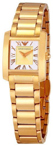 Emporio Armani Women's AR0725 Classic White Mother-Of-Pearl Dial Watch