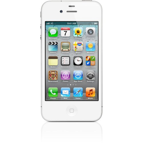Apple iPhone 4S Smartphone (8,9 cm (3,5 Zoll) Touchscreen Display, 8 Megapixel Kamera, 16GB, UMTS, iOS 5) weiß