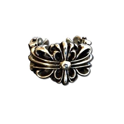 [クロムハーツ] ダブルフローラル クロス シルバー リング / CHROME HEARTS dubble floral cross ring [並行輸入品]