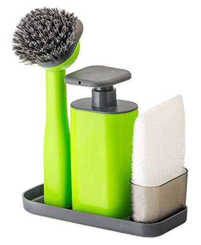 Vigar Rengo Sink Side Set With Green Soap Dispenser, 9-Inches, Green, Black
