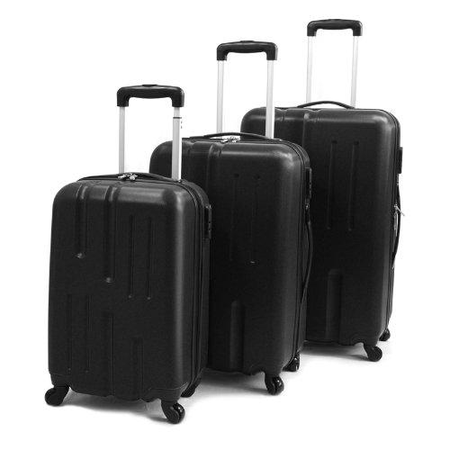 Viaggio Lightweight 3-teiliges Kofferset Schwarz