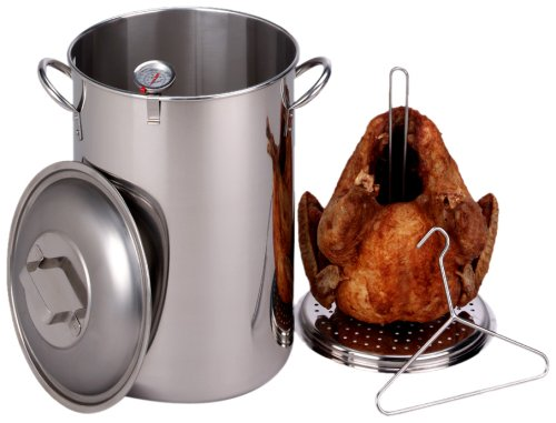 King Kooker 30-Quart Stainless Steel Turkey Pot Package (Turkey Fryers Stainless Steel compare prices)