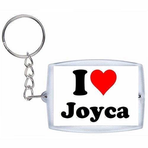 """ESCLUSIVO: Portachiavi/ Keychain """"I Love Joyca"""" in Bianco, una grande idea regalo per il vostro partner, la famiglia e molti altri - regalo di Pasqua, Partner di Pasqua rimorchio, ciondoli zaino, sacchetto incanta, incanta amore, ti amo, amici, amanti, accessorio, made in Germany."""