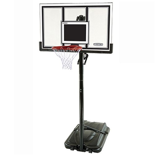 Lifetime 71524 XL Base Height-Adjustable Portable Basketball System with Clear 54-Inch Shatter Guard Backboard
