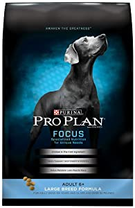 Purina Pro Plan Dry Senior Dog Food, Large Breed Formula, 34-Pound Bag