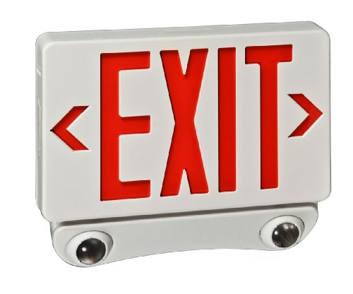 Royal Pacific RXEL36RW Remote Capable Exit Sign and Two Head Emergency Light Combo