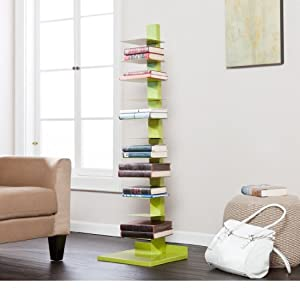 Hein Metal Book/Media Tower / Display Shelves -Lime Green