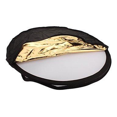 Jajay Collapsible Large Flash Reflector Board - Golden + Silver (80Cm- Diameter)
