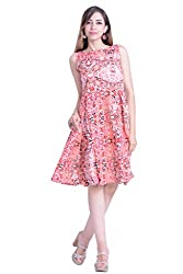 Inblue Fashion Peach Casual Dress For Women