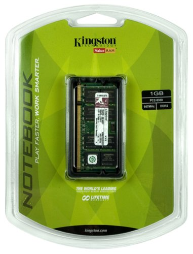 Kingston 1GB PC2-5300 667MHz DDR2 SDRAM Notebook Memory KVR667D2SO/1GR (Tg4 Thermal compare prices)