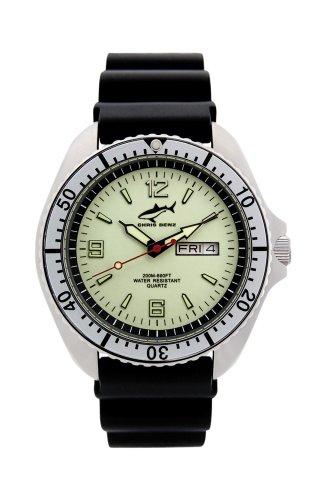 Chris Benz One Man CBO-N-SI-KB Elegante orologio da uomo Orologio da immersione