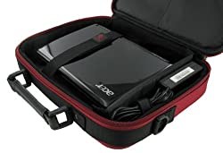 rooCASE Sony VAIO VPC-W111XX/W 10.1-Inch White Netbook Carrying Bag (Classic Series - Red / Black)