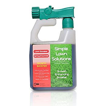 Extreme Grass Growth Lawn Booster- Natural Liquid Spray Concentrated Fertilizer with Fulvic & Humic Acid- Any Grass Type- Simple Lawn Solutions- 32 Ounce.