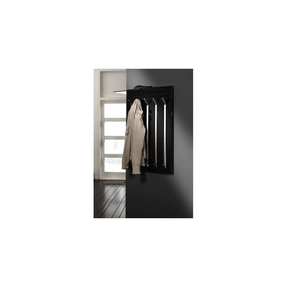 design wandgarderobe 65 x 100 cm garderobe mit glas hutablage und on popscreen. Black Bedroom Furniture Sets. Home Design Ideas