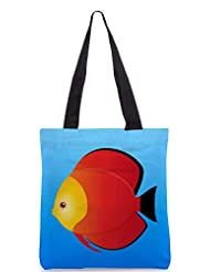 Snoogg A Vector Illustration Of A Yellow Designer Poly Canvas Tote Bag - B012FVIPGC