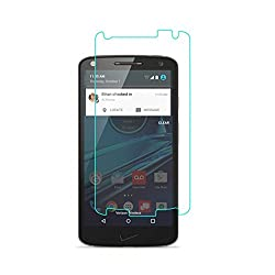 MoArmouz Go - Tempered Glass For MOTO X FORCE by MoArmouz 0.33mm 2.5D Clear Glass 9H Hardness Toughened Anti Explosion Screen Guard Protector Mobile Accessories HD Clear Tempered Glass Screen Protector