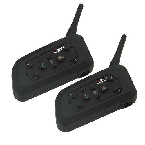 Rupse Motorcycle Snowmobile Helmet Bluetooth Multi Interphone Headsets 6 Riders Intercom Bluetooth (Set)
