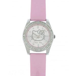 Hello Kitty 4401502 Children's Analog Quartz Watch with Pink Leather Strap