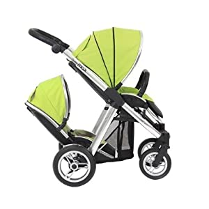 BabyStyle Oyster MAX Inline Double Baby Pushchair (inc 2nd Seat) Lime Green by Babystyle