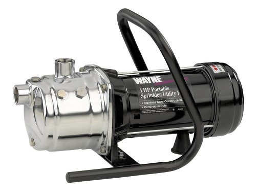 Buy Wayne PLS100 1 HP 720 GPH Portable Lawn Sprinkling Pump, Stainless