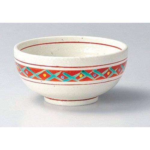 Ramen Soba Udon Noodle Bowl utw391-18-734 [7.5 x 3.8 inch] Japanece ceramic Red picture grid 6.5 pots tableware (Udon Noodle Pot compare prices)