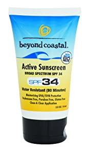 Beyond Coastal Active SPF 34 Sunscreen (1-Ounce)