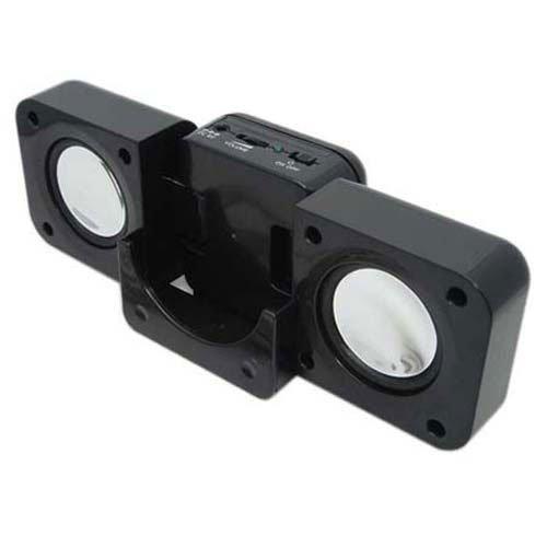 Sansa Fuze Black Travel Size Folding Foldable Multimedia Stereo Speaker