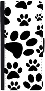 Snoogg Dog Stamps Graphic Snap On Hard Back Leather + Pc Flip Cover Samsung G...