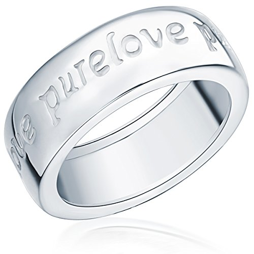 Rafaela Donata Damen-Ring Classic Collection 925 Sterling Silber Gravur Pure Love Gr. 54 60400053