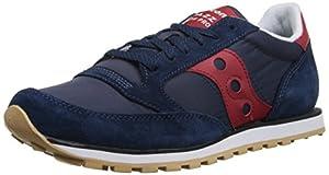 Saucony Originals Men's Jazz Low Pro Classic Retro Sneaker, Navy/Red, 5 M US