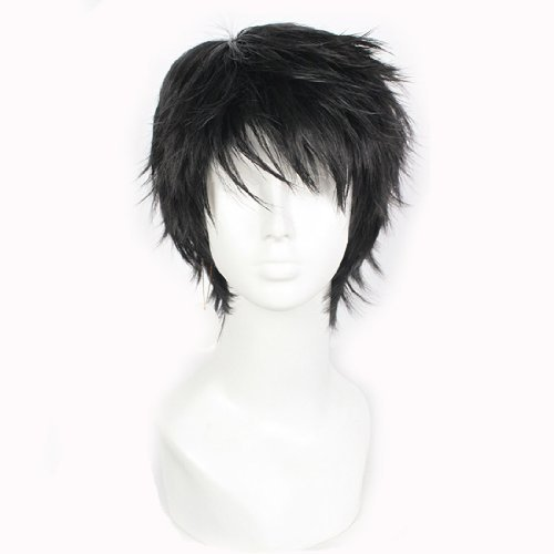 New Vogue 9.84 Inch Short Black Straight Male Hair Wig Wa02