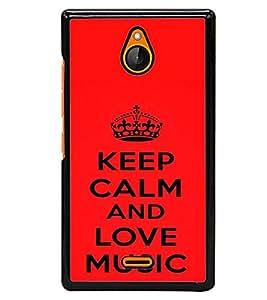 printtech Love Music Back Case Cover for Nokia X2 Dual SIM , Nokia X2 RM-1013 , Nokia X2DS